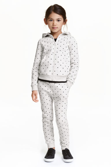 Joggers - Light grey/Spotted -  | H&M CA 1