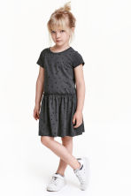 Jersey dress - Dark grey/Hearts -  | H&M CN 1