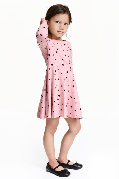 Jersey dress - Light pink/Heart - Kids | H&M CN