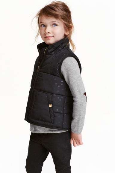 Padded gilet - Black/Spotted - Kids | H&M CN 1