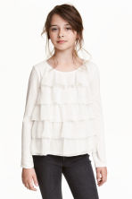 Long-sleeved tiered top - White - Kids | H&M CN 1