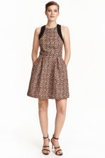 Jacquard-weave dress - Light beige/Pattern - Ladies | H&M CN 1