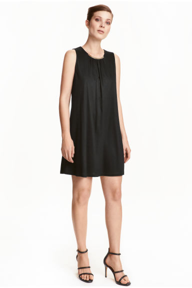 Sleeveless dress - Black - Ladies | H&M CN 1