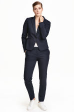 Suit trousers - Dark blue/Patterned - Ladies | H&M CN 2