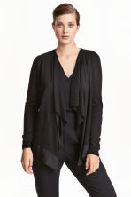 Draped cardigan - Black - Ladies | H&M CN 1