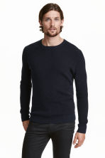 Premium cotton jumper - Dark blue - Men | H&M CN 1