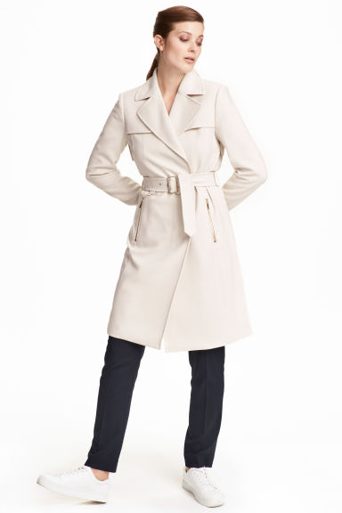Short coat - Light beige - Ladies | H&M CN 1