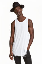 Ribbed vest top - White - Men | H&M CN 1