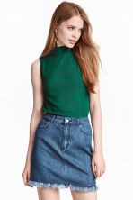 Turtleneck top - Emerald green -  | H&M CN 1