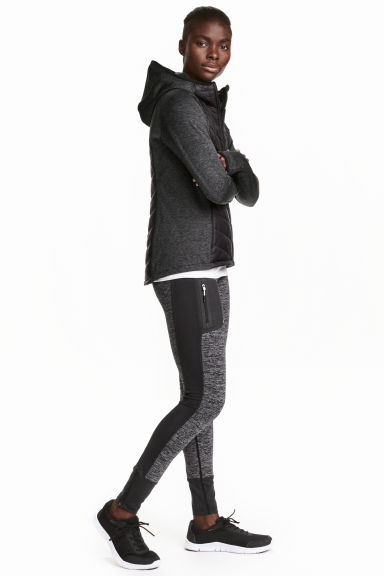 Outdoor tights - Black marl - Ladies | H&M CN 1