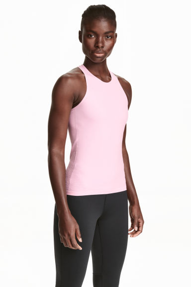 Seamless running vest - Light pink - Ladies | H&M CN 1