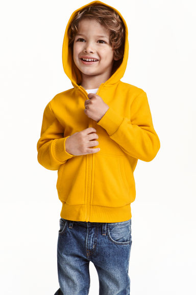 Hooded jacket - Dark yellow - Kids | H&M CN 1