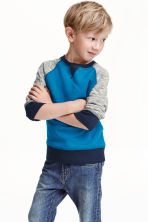 Sweatshirt - Cornflower blue - Kids | H&M CN 1