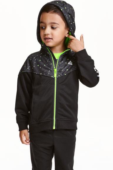 Sports jacket with a hood - Black - Kids | H&M CN 1