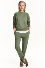 Sweatpants - Khaki green -  | H&M 2