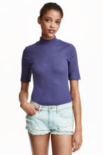 Turtleneck body - Violet - Ladies | H&M CN 1