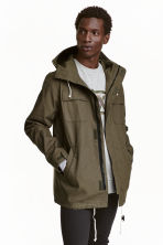 Parka with a hood - Khaki green - Men | H&M CN 2