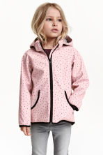 Softshell jacket - Light pink/Spotted - Kids | H&M CN 1