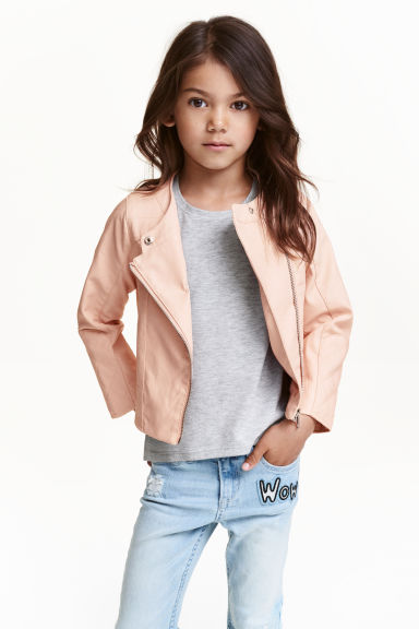 Biker jacket - Powder pink - Kids | H&M CN