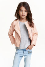 Biker jacket - Powder pink - Kids | H&M CN 1