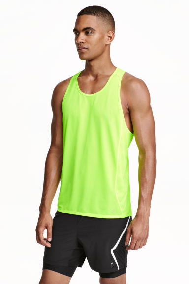 Ultra-light running vest - Neon green - Men | H&M CN 1