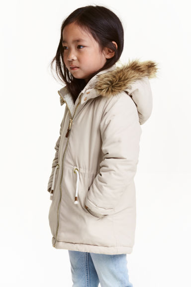Padded parka - Light beige - Kids | H&M CN 1