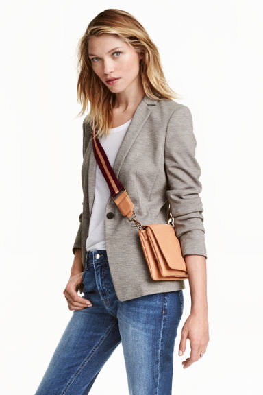 Jersey jacket - Grey marl - Ladies | H&M GB 1
