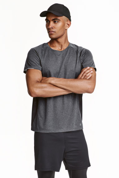 Ultra-light running top - Dark grey marl - Men | H&M CN 1