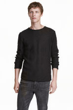 Knitted jumper - Black - Men | H&M CN 1