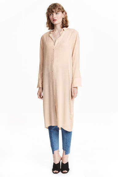 Oversized shirt - Light beige - Ladies | H&M CN 1