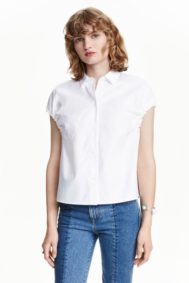 Cotton blouse - White - Ladies | H&M CN 1