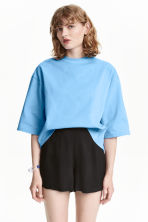 Wide sweatshirt - Light blue - Ladies | H&M CN 1