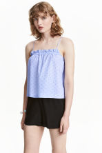 Plumeti strappy top - Blue/Spotted - Ladies | H&M CN 1