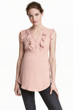 MAMA Frilled blouse - Powder pink - Ladies | H&M CN 1