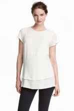 MAMA Crêped blouse - White - Ladies | H&M CN 1
