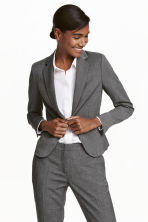 Fitted jacket - Dark grey/Patterned - Ladies | H&M GB 1