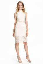 Gonna in pizzo - Bianco naturale - DONNA | H&M IT 1