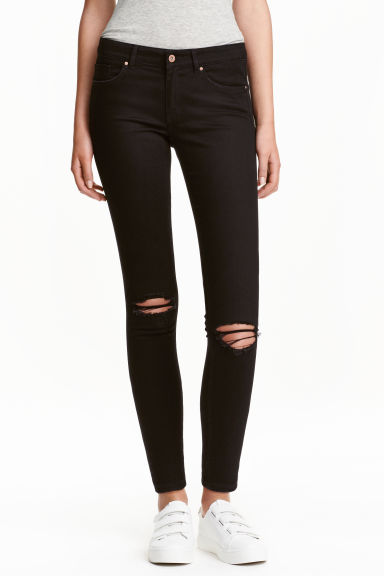 Super Skinny Ankle Jeans - Black - Ladies | H&M GB 1