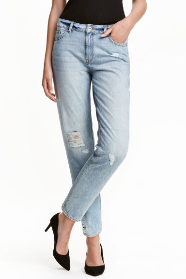 Girlfriend Trashed Jeans - Light denim blue - Ladies | H&M CN 1