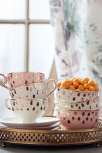 Coffee cup and saucer - White - Home All | H&M CN 1