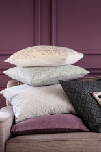 Quilted velvet cushion cover - Light grey - Home All | H&M CN 1
