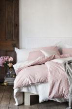Patterned duvet cover set - Light pink - Home All | H&M CN 1