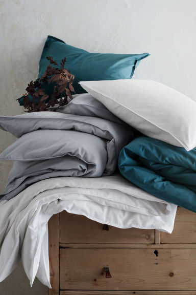 Cotton duvet cover set - Dark petrol - Home All | H&M CN 1