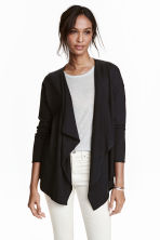 Fine-knit cardigan - Black -  | H&M CN 2
