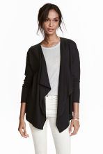 Fine-knit cardigan - Black -  | H&M CN 3