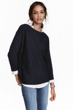 Rib-knit jumper - Dark blue - Ladies | H&M CA 2