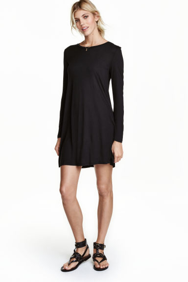 Abito in jersey maniche lunghe - Nero - DONNA | H&M IT 1