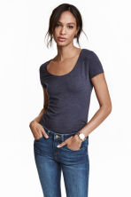 Jersey top - Dark blue marl - Ladies | H&M CN 2
