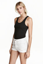 Jersey vest top - Black - Ladies | H&M CN 1