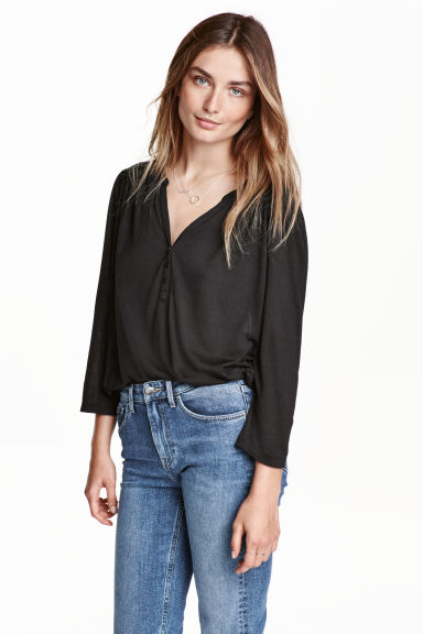 Top in jersey - Nero - DONNA | H&M IT 1